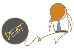 Free Man In Jail With Debt Ball Stock Photo - 28553900