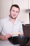 Man In Kitchen Royalty Free Stock Photo