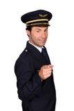 Man In Pilot Costume Royalty Free Stock Photos