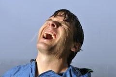 Man In Rain Stock Photos