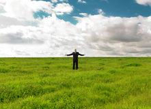 Man In The Field Stock Image