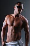 Man In Underwear. Stock Photos