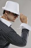 Man In White Hat Stock Image
