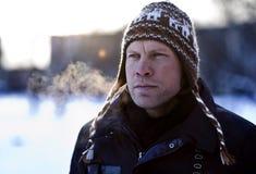 Man In Winter Hat Stock Photos