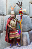 Man Inca warrior peruvian Andes Cuzco Peru Royalty Free Stock Images