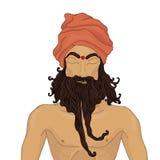 Man. Indian man. hand-drawn sketch Royalty Free Stock Images