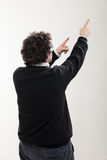 Man indicates a point at the top Stock Photography