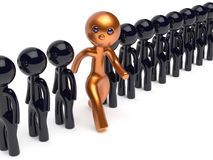 Man individuality different people unique character think differ Stock Photos