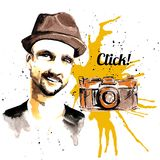 Man ink hipster Stock Image