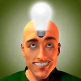 Man innovates. High Resolution 3D Illustration Man innovates Stock Photography