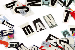 Man inscription Stock Photo
