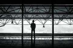 Man inside airport Royalty Free Stock Photo