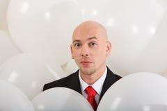 Man inside balloons Royalty Free Stock Photo