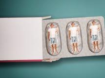 Man inside capsule. royalty free stock photo
