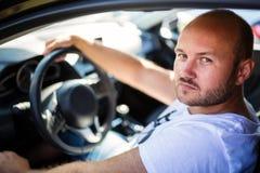 Man inside the car Royalty Free Stock Photos