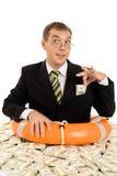 Man inside money Royalty Free Stock Photography