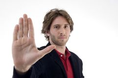 Man instructing to stop Stock Images