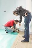 Man instructing worker Royalty Free Stock Image