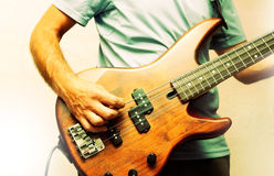 Man and instrument Royalty Free Stock Photos