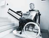 Man in an invalid chair Stock Photos