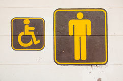 Man and Invalid people toilet sign Royalty Free Stock Images