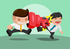 Man iron punch  Attack Strong Royalty Free Stock Image