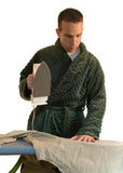 Man Ironing Royalty Free Stock Image