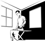 Man ironing Royalty Free Stock Photo