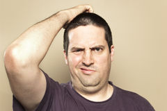 Free Man Is Confused Stock Images - 28866414