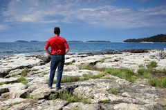 Man and islands Royalty Free Stock Photo