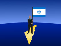 Man with Israeli flag Stock Images