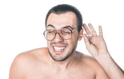 Man itching ear Royalty Free Stock Photos