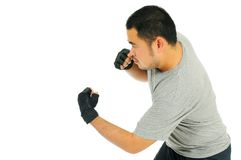 Man jab body combat Stock Photography