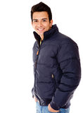 Man with a jacket Stock Images