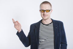 Man in jacket. With smile Stock Image