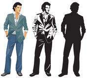 The man in a jacket. The image of the modern beautiful man in a suit Royalty Free Stock Photography