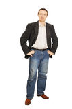 Man in a jacket and jeans Royalty Free Stock Photo