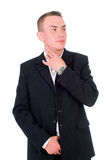 A man in a jacket on a white background Royalty Free Stock Photography