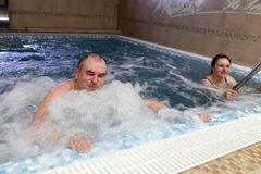 Man in jacuzzi Royalty Free Stock Image