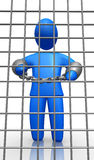 Man in the jail Stock Photography