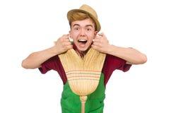 Man janitor Royalty Free Stock Image