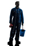 Man janitor plumber  silhouette Stock Photos
