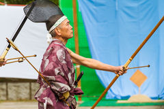 Man of Japanese Archery Stock Images