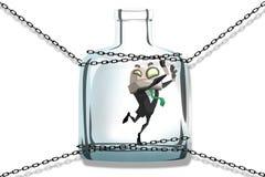 Man in jar Royalty Free Stock Images
