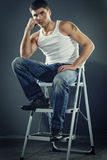 Man in jeans Royalty Free Stock Images