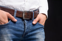 Man in jeans. Stock Images