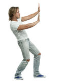 Man in jeans and tshirt Royalty Free Stock Photography