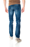 Man in jeans on white Royalty Free Stock Images