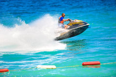 Man on a jet ski Stock Photos