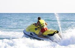 Man on jet ski. Riding Royalty Free Stock Images